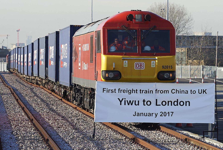 רכבת מסין ללונדון, כחלק מתכנית דרך המשי | תמונה: Niklas Halle'n/AFP/Getty Images