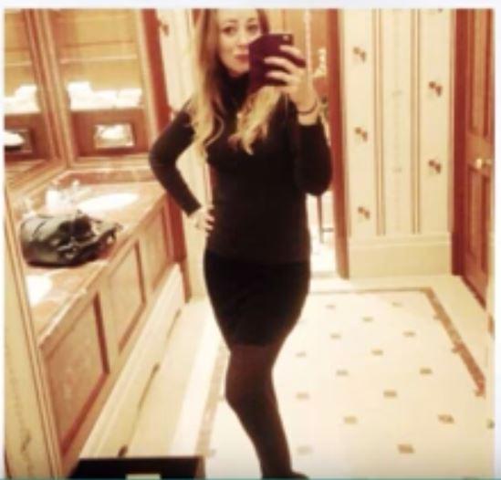 אפילו בחודש השביעי, לא נראה שדולן בהריון   תמונה:Klara Dollan's Facebook Screenshot