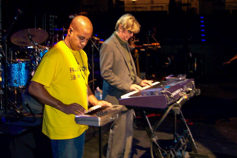 קמפבל ובואי בבדיקת סאונד לפני הופעה   תמונה: Mark Plati
