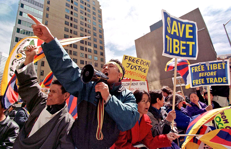 הפגנה למען טיבט | תמונה: ,Mark Leffingwell/AFP/Getty Images